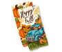 Pumpkins and Happy Fall Truck Kitchen Towels 2 Pack Stacked and Fanned Overhead View Silo Image