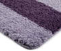 Purple Ash Ombré Stripe Bath Rugs, 2-Piece Set Silo Image Close Up Corner