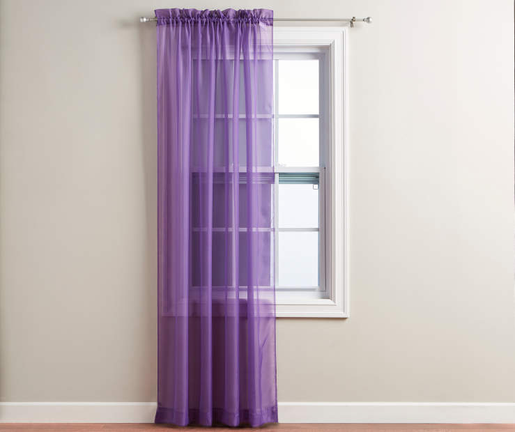 "Purple Voile Panel 84"" on Window Room View"