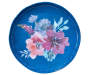 Purple and Blue Floral Melamine Appetizer Plate Silo Overhead