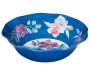 Purple and Blue Floral Melamine Serving Bowl Silo Slight Overhead