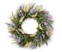 Purple and White Lavender Wreath 22 inches Silo Front View