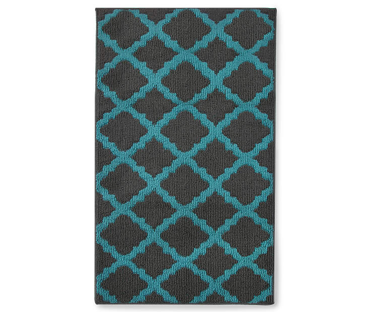 Living Colors Quatrefoil Blue Accent Rugs