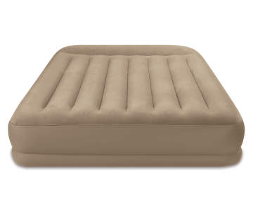 Intex Queen Pillow Rest Mid Rise Air Mattress With Pump Big Lots