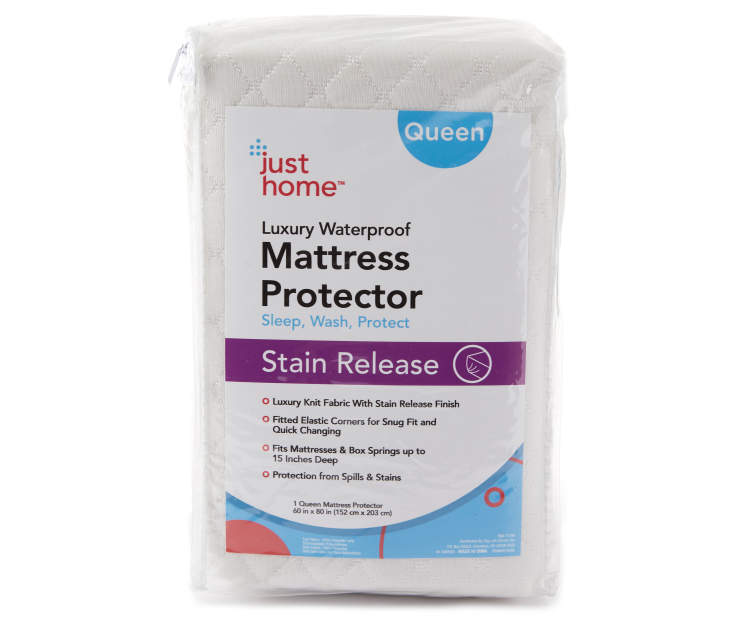 Queen Stain Release Luxury Waterproof Mattress Protector Silo in Piackaging
