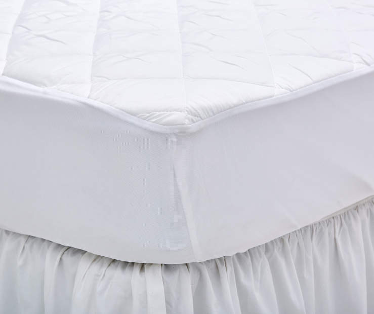 Queen Waterproof Mattress Pad on Bed Lifestyle Image