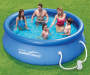 Quick Set® Pool, 10 by 30 Lifestyle Image Overhead View Family