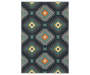 Quillian Navy Area Rug 5 Feet 3 Inches by 7 Feet 6 Inches Overhead View Silo Image