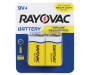 RAYOVAC Zinc Carbon Battery 9-Volt 4-Count Carded Pack