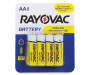 RAYOVAC Zinc Carbon Battery AA 8-Count Carded Pack