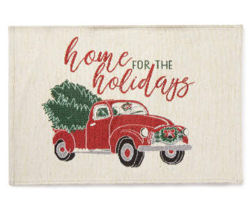 Vintage Red Truck Christmas Placemats.Christmas And Holiday Dinnerware Table Decor Big Lots