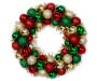 RED/GREEN/GOLD TINSEL ORNAMENT WREATH