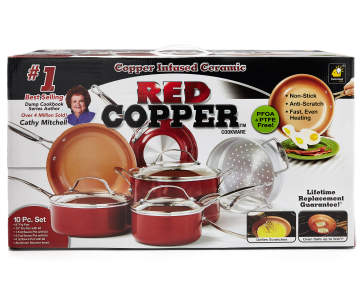 As Seen On TV Red Copper 10-Piece Cookware Set   Big Lots Copper Kitchen Set Red on copper bedding set, copper tea set, copper clothing, copper mask, copper light, copper fan, copper utensil set, copper knife set, copper sink, copper and wood, copper bar set, copper fridge, copper lighting, copper bedroom, copper clock, copper dining room set, copper buffet, copper painting, copper cooking set, copper tools,