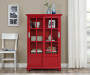 RED GLASS DOOR BOOKCASE lifestyle