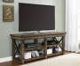 RUSTIC GREY OAK 65IN TV STAND lifestyle