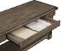RUSTIC GREY VENEER  ROLLING CART drawer image