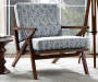 Rain Blue Mid Century Wood Accent Chair lifestyle