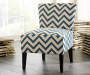 Ravity Blue Accent Chair Lifestyle