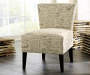 Ravity Taupe Accent Chair Lifestyle