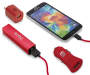 Red 4 Piece Micro USB Power Bundle Combined Shot Silo Image