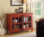 Red Accent Chest With Doors Room View