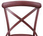 Red Antique Distressed Metal Dining Chair silo front