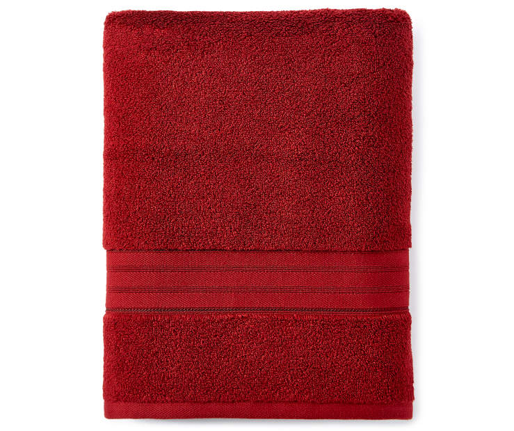 Red Bath Towel silo front