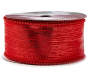 Red Bead Decorative Ribbon 18 Feet Long on Spool Front View Silo Image