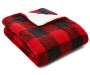 Red Buffalo Check Reversible Sherpa Throw silo angled