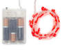 Red Candy Cane Battery Operated LED Light Set 30 Count silo front