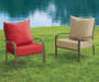 Red Deep Seat & Back Cushion Set