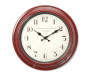 Red Distressed Wall Clock 16 Inches Overhead View Silo Image
