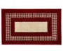Red Double Border Accent Rug 2 feet 2 inch x 3 feet 9 inch silo front