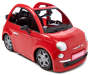 Red Fiat 500 Fashion Doll Car silo front