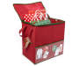 Red Gift Bag Organizer silo front with props