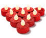 Red Glitter LED Tealight Candles 10 Pack silo front