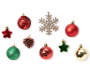 Red Gold and Green Traditional Mini Ornaments 18 Pack silo front
