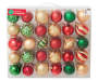 Red Green Gold Shatterproof Ornament Set 60-Pack Silo In Package
