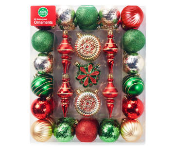 non combo product selling price 160 original price 160 list price 160 - Red And Green Christmas Tree Decorations