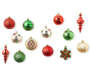 Red Green and Gold Shatterproof Ornaments 50 Pack silo front