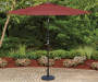 Red Market Patio Umbrella 9 feet Lifestyle Image Patio