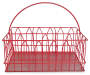 Red Metal Wire Utensil Caddy silo front