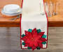 Red Poinsettia Table Runner 13 inch x 72 inch lifestyle