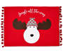 Red Pom-Pom Reindeer Placemat Silo Image