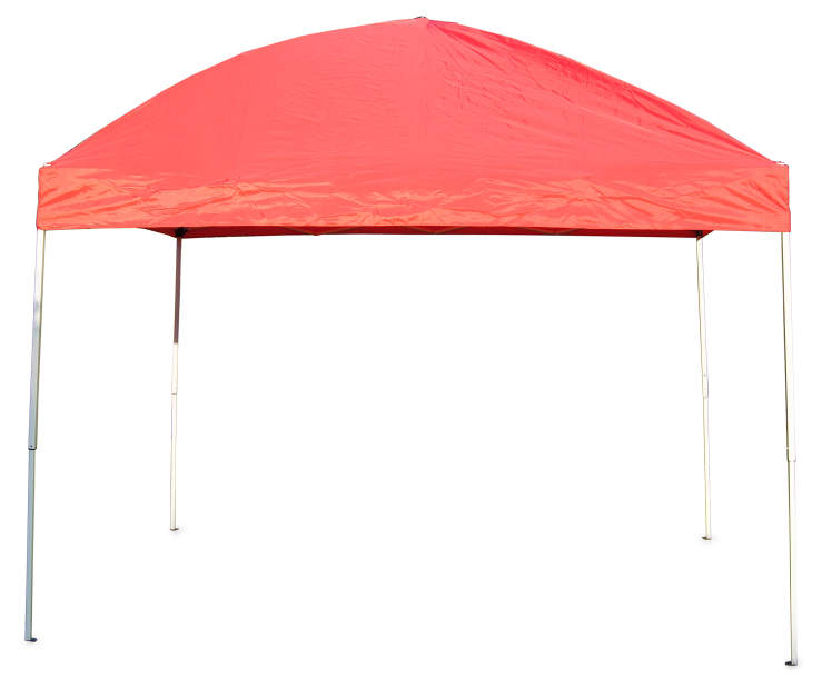 Red Pop Up Sun Shelter 8 Feet by 10 Feet Silo Image