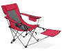 Red Quad Chair with Footrest silo angled