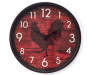 Red Rooster Clock 12 Inches Overhead View Silo Image