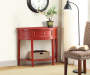 Red Semi Circle Accent Table Room View