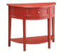 Red Semi Circle Accent Table Silo Image