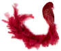 Red Sequin Peacock Feather Clip silo front